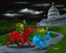 Michael Godard Limited Edition Fine Art Limited Edition Giclee on Canvas Political Party Animals (AP)