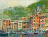 James Coleman Limited Edition Giclee on Canvas Portofino Coast (20 x 26.5)