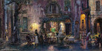 Cao Yong Limited Edition Giclee on Canvas Pretty Life in Monterosso