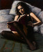 Fabian Perez Limited Edition Giclee on Canvas Princess Diaries V