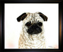 Jacquie Vaux Original Water Color Pug