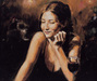 Fabian Perez Limited Edition Giclee on Canvas Selling Pleasure II