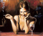 Fabian Perez Limited Edition Giclee on Canvas Selling Pleasure