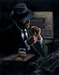 Fabian Perez Limited Edition Giclee on Canvas Study For Whiskey At Las Brujas II