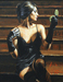 Fabian Perez Limited Edition Giclee on Canvas Saba on the Stairs III