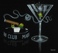 Godard Martini Art Limited Edition Giclee on Canvas Smoke Off At The Club (AP)