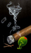 Godard Martini Art Limited Edition Giclee on Canvas Smokin  Martini