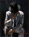 Fabian Perez Limited Edition Giclee on Canvas Smoking Under the Light with White Suit