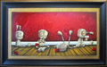 Fabio Napoleoni Original Acrylic on Canvas Spelling It Out For You (Original) - Framed
