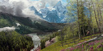 Phillip Philbeck Limited Edition Giclee on Canvas Springtime in the Tetons