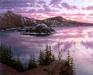 Alexei Butirskiy Limited Edition Giclee on Canvas Sunset at Crater Lake