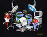 Godard Martini Art Limited Edition Giclee on Canvas Surgicaltini (AP)