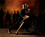 perez tango Limited Edition Giclee on Canvas Tango In White