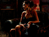 Fabian Perez Limited Edition Giclee on Canvas Tess