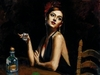 Fabian Perez Limited Edition Giclee on Canvas The Singer With Tequila Glass
