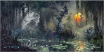 James Coleman Limited Edition Giclee on Canvas Light Through the Warm Mist (20 x 40)