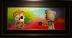 Fabio Napoleoni Original Acrylic on Canvas This Love I Promise Will be Explosive (Framed)