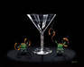 Godard Martini Art Limited Edition Giclee on Canvas Tiki Martini (28 x 35)