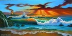 Jim Warren Fine Art Limited Edition Giclee on Canvas Tropical Fanta - Sea