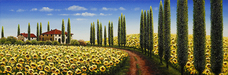 Mario Original Oil on Canvas Tuscan Dream