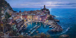 Cao Yong Limited Edition Giclee on Canvas Moonlight in Vernazza