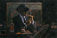 Fabian Perez Limited Edition Giclee on Canvas Whiskey at Las Brujas II
