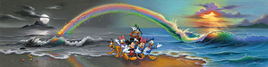 Jim Warren Fine Art Limited Edition Giclee on Canvas Walt's Wonderful World of Color