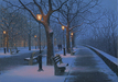 Alexei Butirskiy Limited Edition Giclee on Canvas Winter Stroll