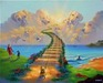 Jim Warren Fine Art Limited Edition Giclee on Canvas All Dogs Go to Heaven #3