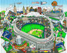 Charles Fazzino 3D Art Limited Edition 3-Dimensional Serigraph An All Star Tribute To Yankee Stadium (DX)