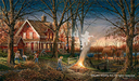 Terry Redlin Limited Edition Print on Paper Autumn Evening AP