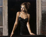 Fabian Perez Limited Edition Giclee on Canvas Balcony at Buenos Aires VII Blanca