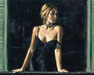 Fabian Perez Limited Edition Giclee on Canvas Balcony At Buenos Aires V