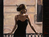 Fabian Perez Limited Edition Giclee on Canvas Balcony III at the White Wall