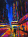 Flohr Art Limited Edition Giclee on Canvas Big City of Dreams