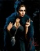 Fabian Perez Limited Edition Giclee on Canvas Blue Rabbit