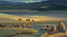 Nancy Glazier Limited Edition Giclee on Canvas Buffalo Valley