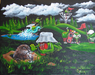 Godard Martini Art Limited Edition Giclee on Canvas Caddy Shack (28 x 35)