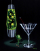 Godard Martini Art Limited Edition Giclee on Canvas Devilish Martini (17.5 x 22)