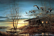 Terry Redlin Limited Edition Giclee on Canvas Evening Retreat