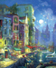 James Coleman Limited Edition Giclee on Canvas Evening Romance