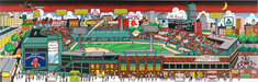 Charles Fazzino 3D Art Limited Edition 3-Dimensional Serigraph Fenway Park: The Pride of Boston