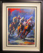 Michael Flohr Artist Original Painting In the Lead (Framed)