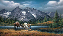 Terry Redlin Limited Edition Print on Paper For Purple Mountain Majesties