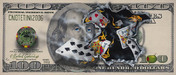 Michael Godard Limited Edition Fine Art Limited Edition Giclee on Canvas $100 Bill - Full House (MURAL)