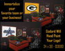 Godard Martini Art Mixed Media on Canvas Custom Logo Mixed Media