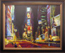 Michael Flohr Artist Limited Edition Giclee on Canvas Good Times Square