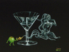 Godard Martini Art Limited Edition Giclee on Canvas I Dream of Martini Genie (AP)