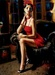 Fabian Perez Limited Edition Giclee on Canvas Linda in Red II