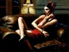 Fabian Perez Limited Edition Giclee on Canvas Linda in Red III